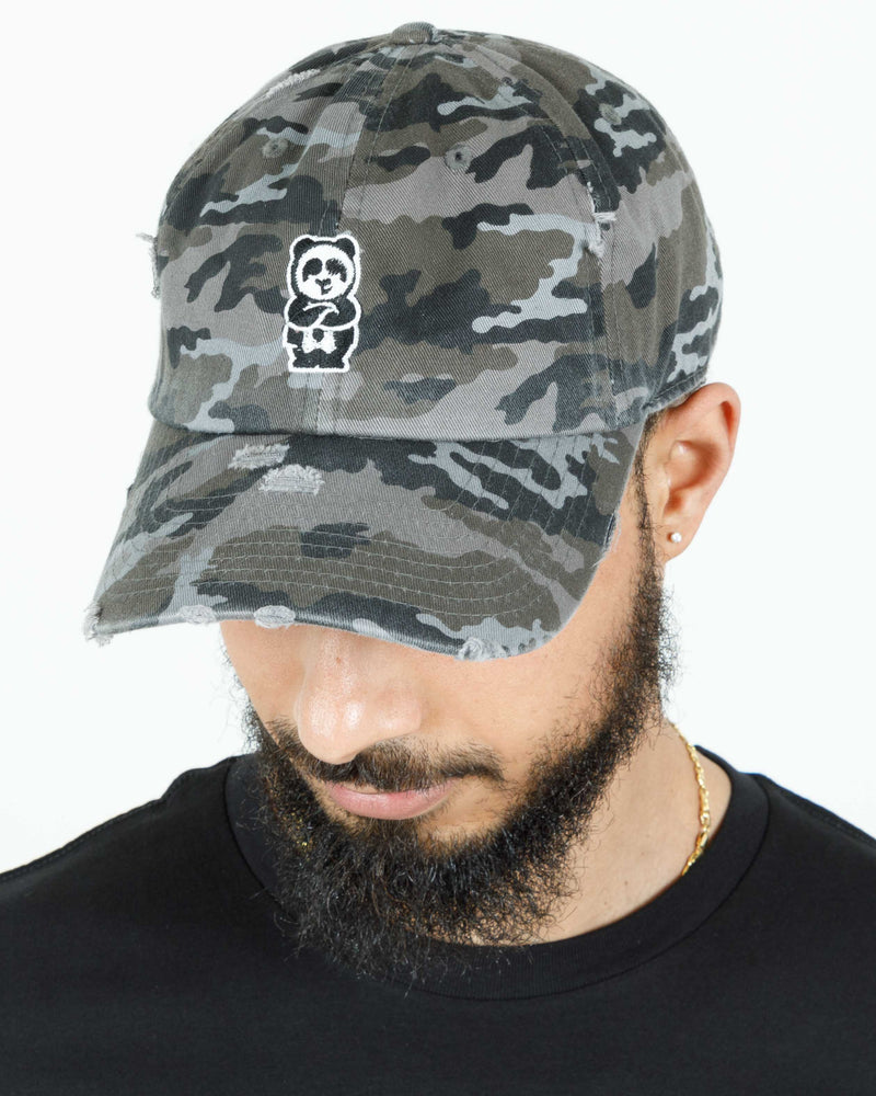 Father Cap (Distressed Night Camo)