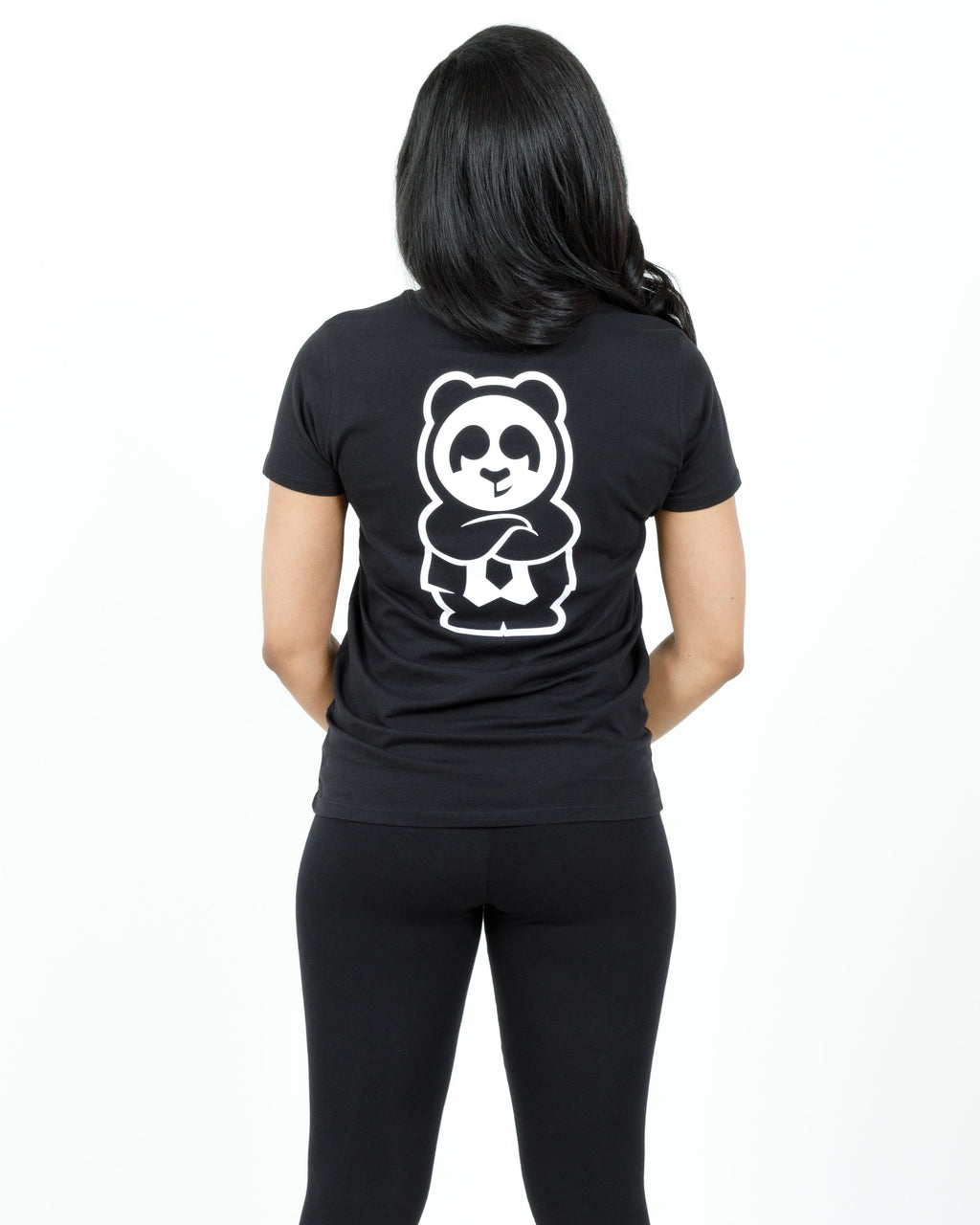 Women's Giant Panda Fam Tee (Black)