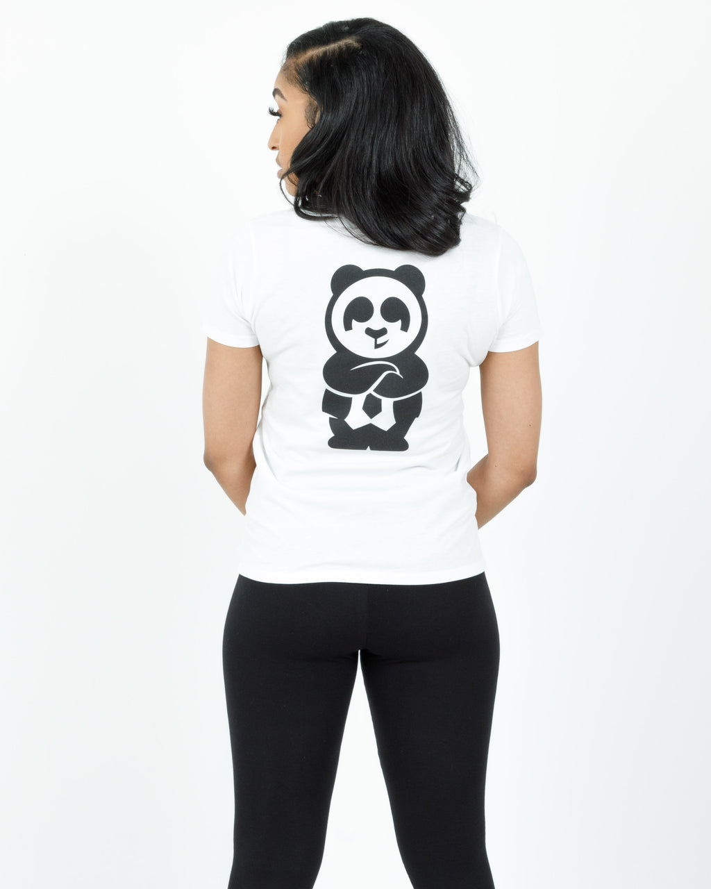 Women's Giant Panda Fam Tee (White)