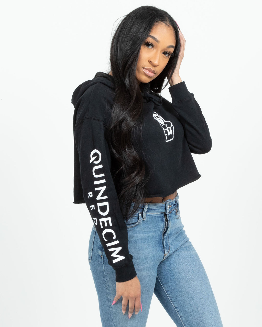 Women's Crop Hood (Black)