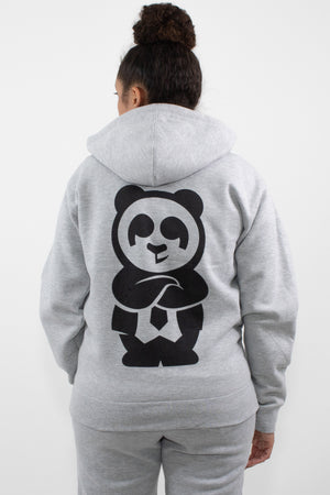 Giant Panda Fam Zip (Light Grey) - Quindecim Red