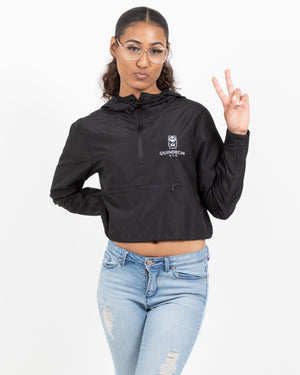 Women's Crop Windbreaker (Black)