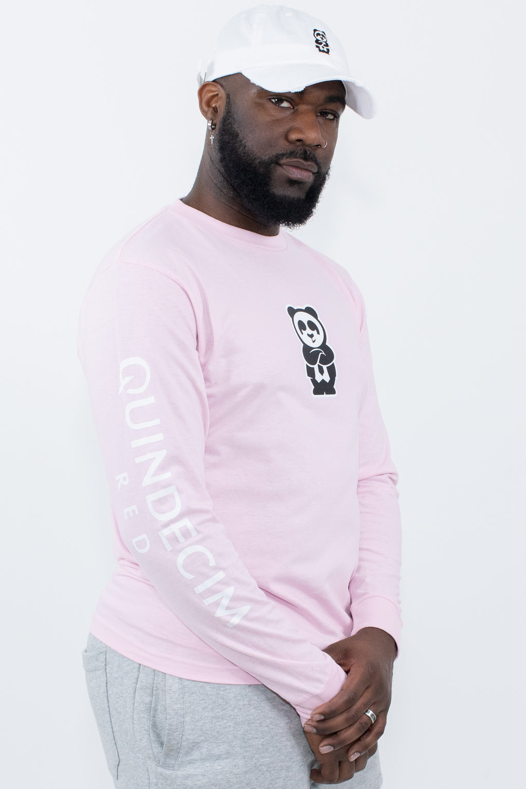 Long Sleeve Panda (Pink)