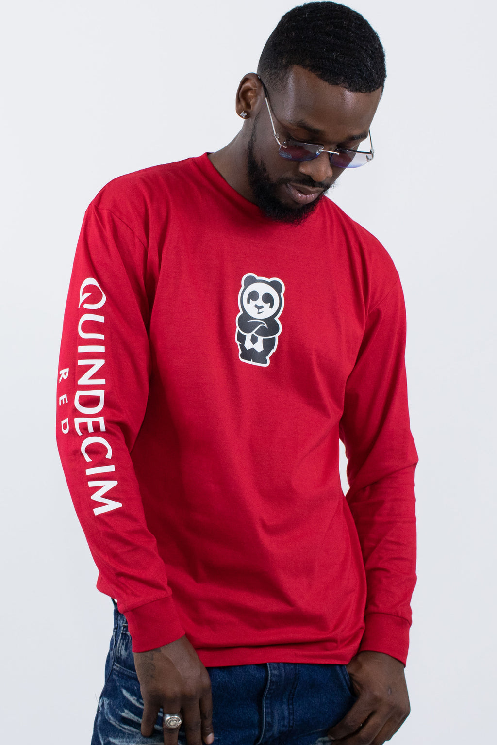 Long Sleeve Panda (Red) - Quindecim Red