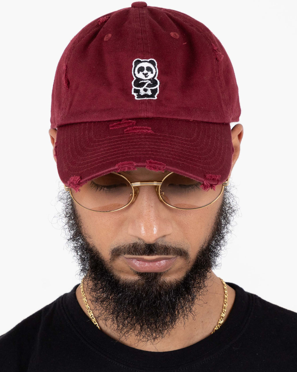 Father Cap (Distressed Maroon)