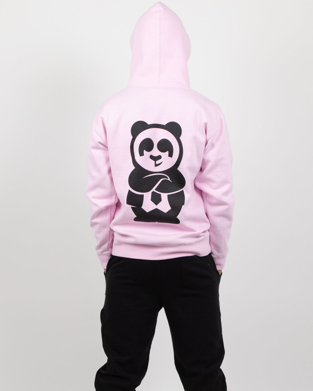 Giant Panda Fam Pullover Hood (Pink)