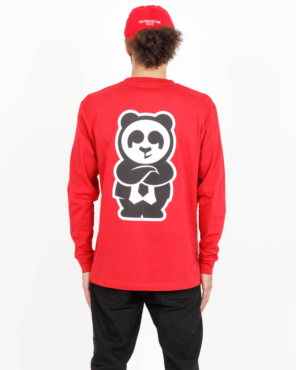 Giant Panda Fam Long Sleeve (Red)