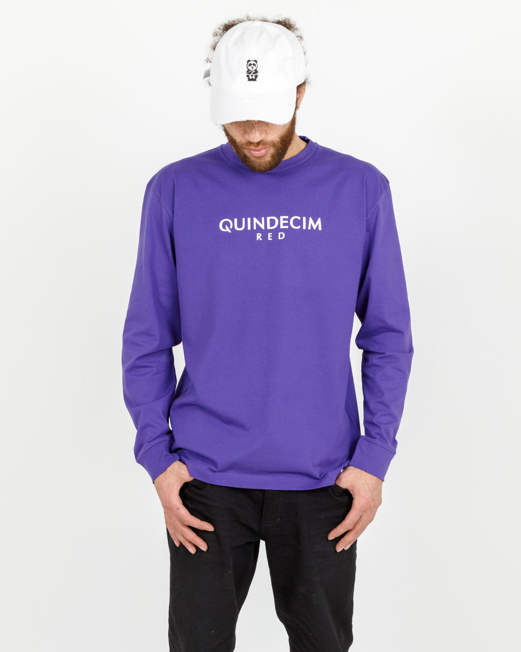 Giant Panda Fam Long Sleeve (Purple)