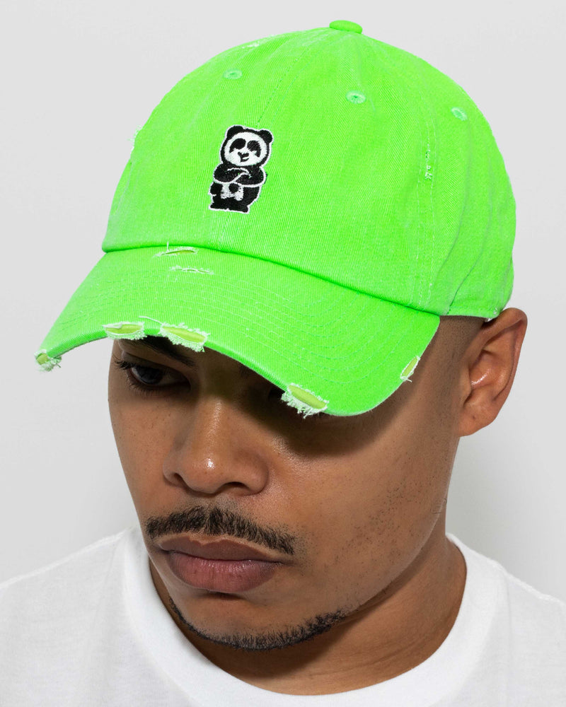 Father Cap (Distressed Neon Green)