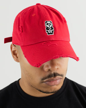 Father Cap (Distressed Red)