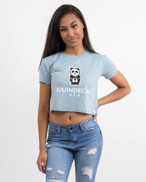 Women's Relaxed Crop Tee (Sky)