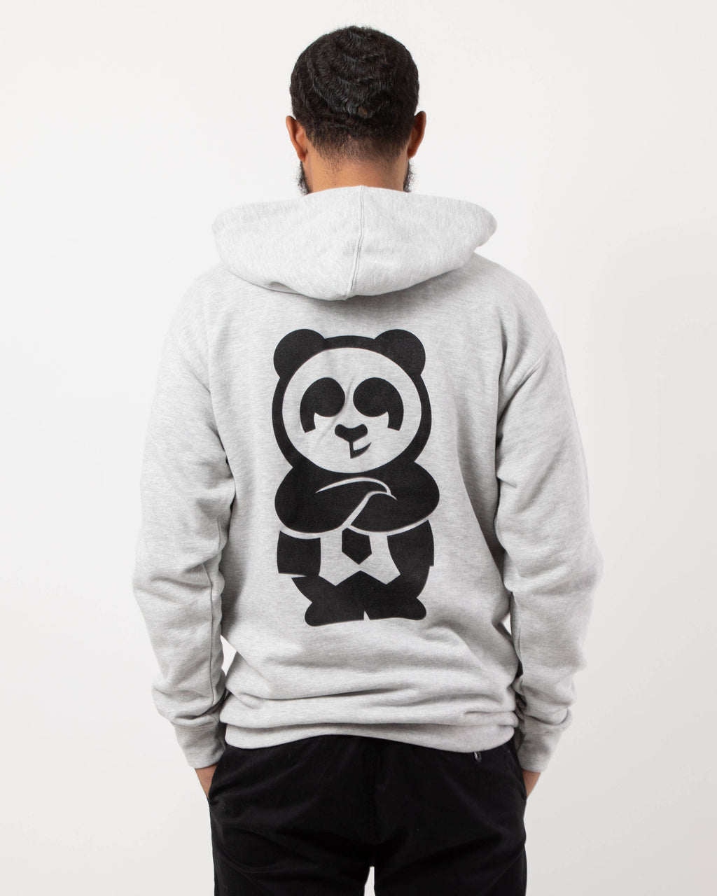 Giant Panda Fam Pullover Hood (Heather Grey)
