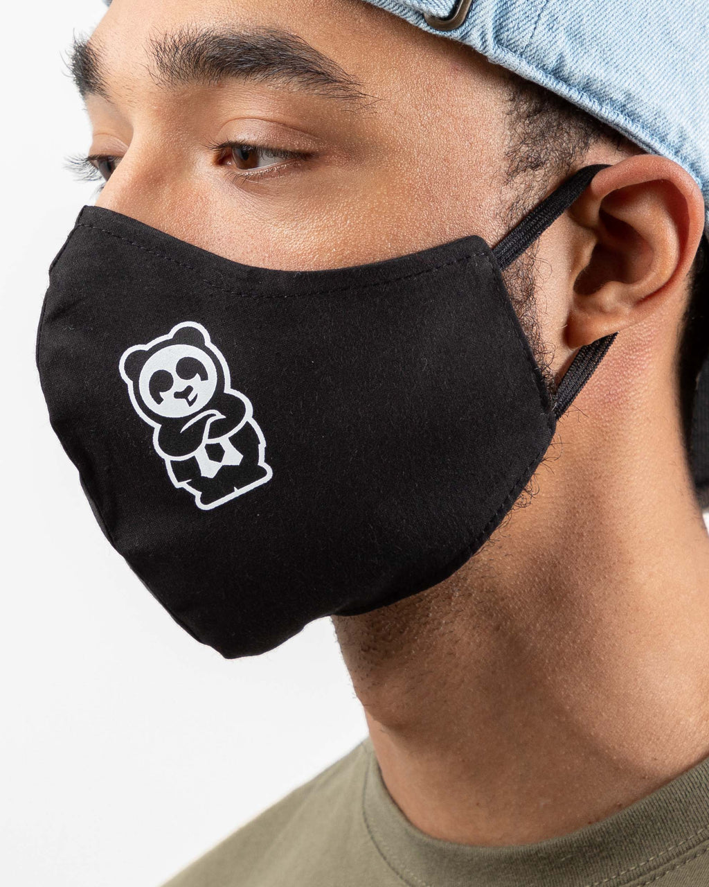 Reusable Adult Panda Face Mask (Black)