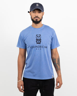 Short Sleeve Panda (Great Lake Blue)
