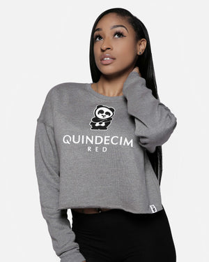 Women's Crop Sweatshirt (Grey)