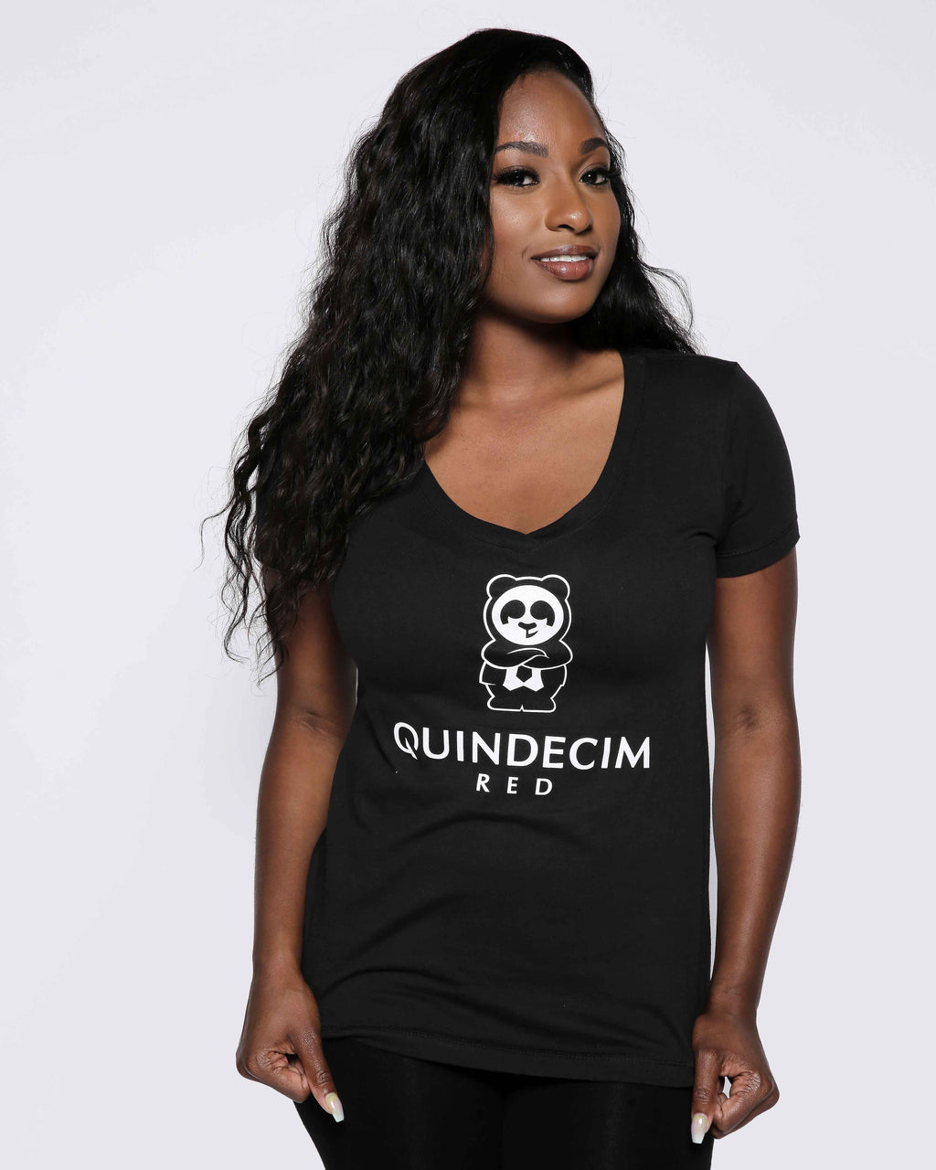 Women's Signature V Neck 18' (Black)