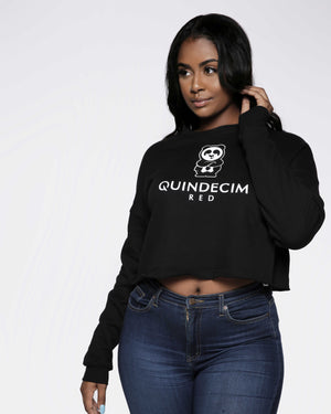 Women's Crop Sweatshirt (Black)
