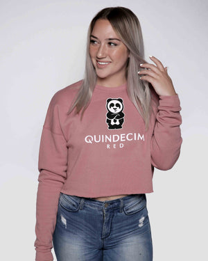 Women's Crop Sweatshirt (Rosé)