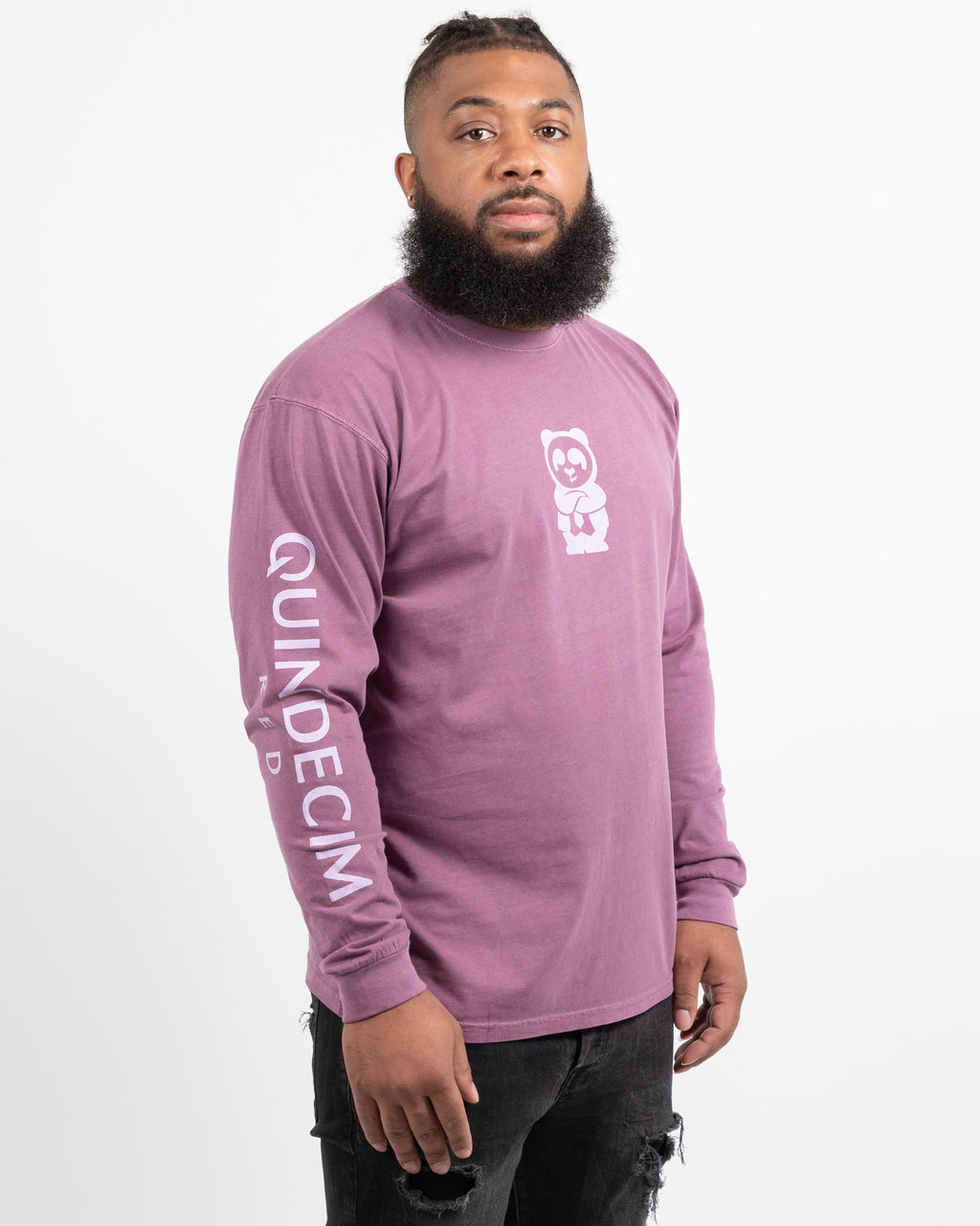 Long Sleeve Panda (Plum)