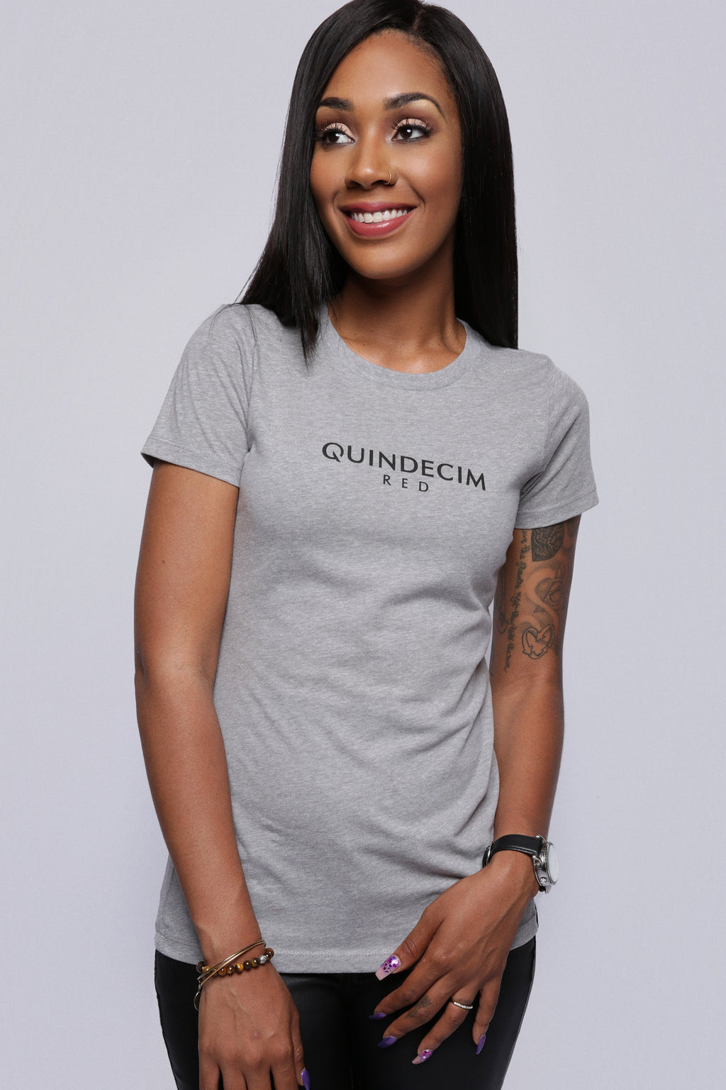 Women's Fight The Fear Tee - Quindecim Red