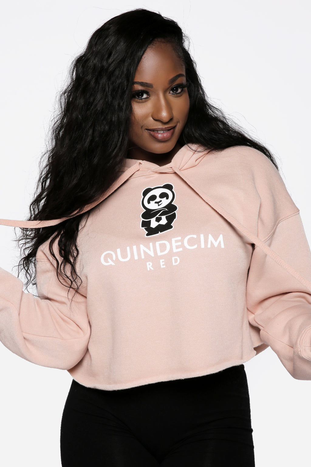 Women's Crop Hood (Peachy) - Quindecim Red