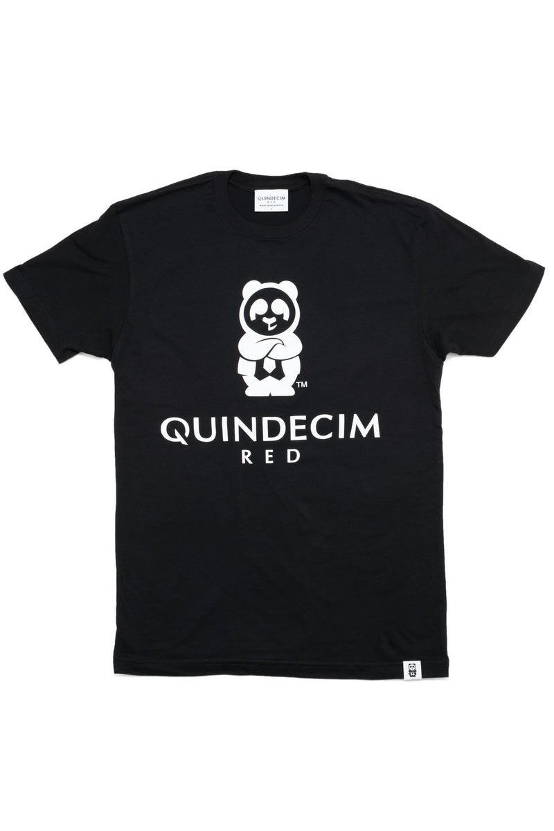 Men's Signature Tee (Black) - Quindecim Red