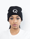 Break The Cycle Knit Cap (Black) - Quindecim Red