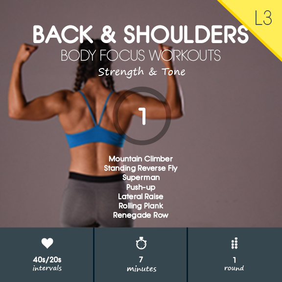 Back & Shoulders 01 - 7 min Back, Shoulders & Core Strength Builder