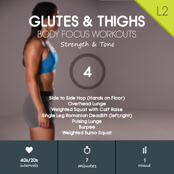Glutes & Thighs 04 - 7 min Glutes, Hamstrings & Cardio Workout