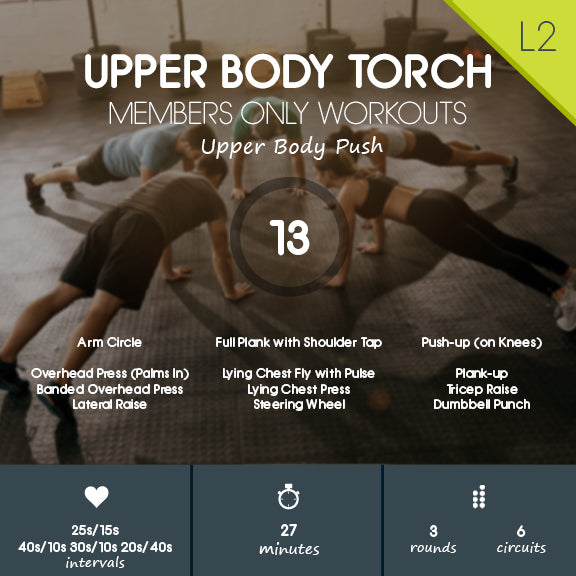 Upper Body Push Workout with Variety