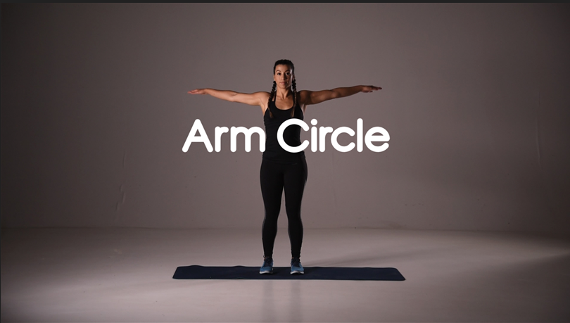 How to do an arm circle exercise