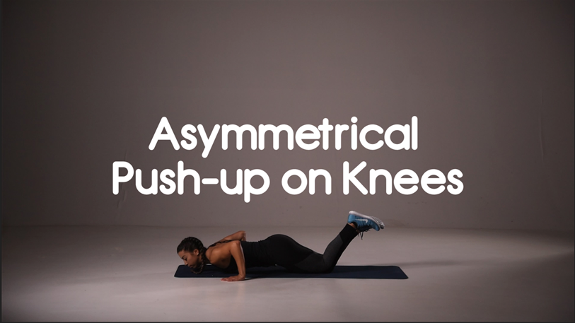 hiit exercises asymmetrical push up on knees