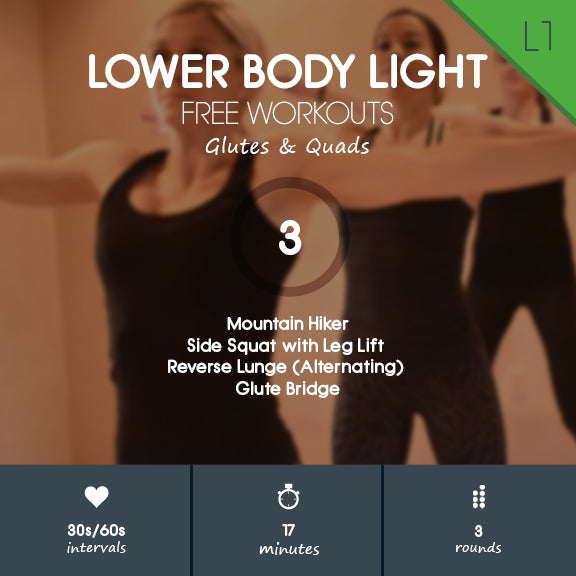 Lower Body Light 03 - Beginner Lower Body Home Workout - No Jumping