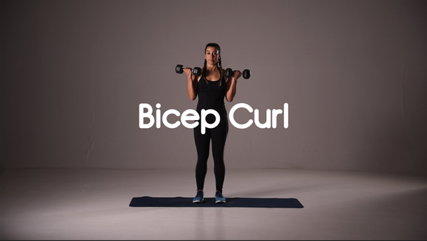 how to do a bicep curl hiit exercise