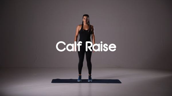 how to do a calf raise hiit exercise