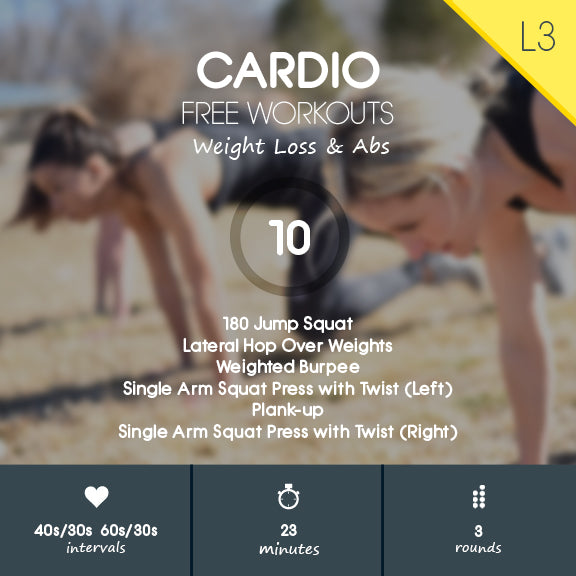 Cardio 10 - Intense Full Body Cardio Strength Workout for Fat Loss