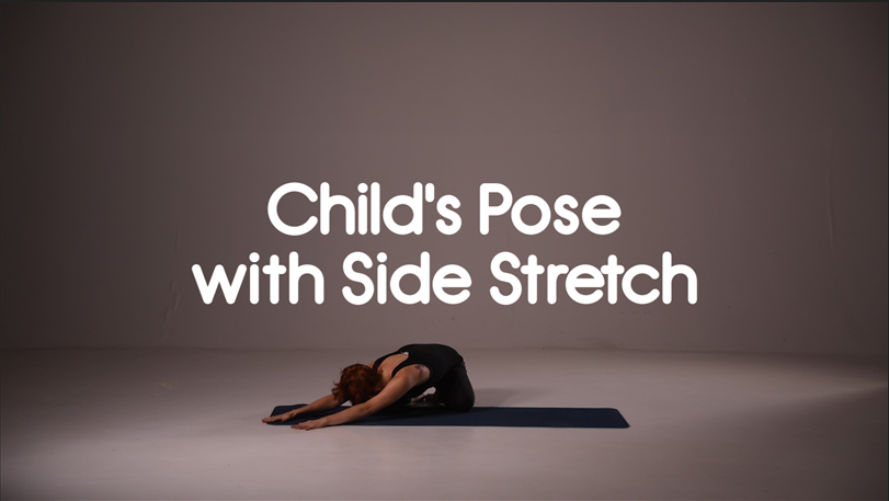 Child's Pose with Side Stretch