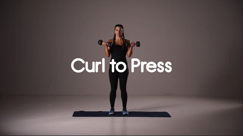 How to do curl to press hiit exercise