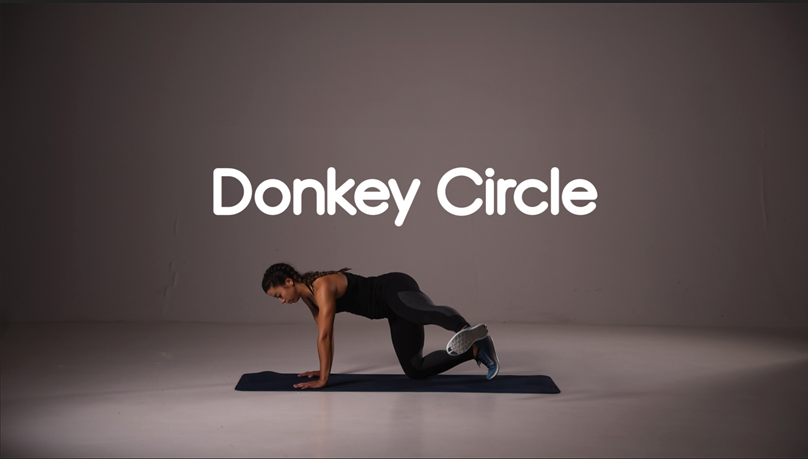 How to do donkey circle hiit exercise