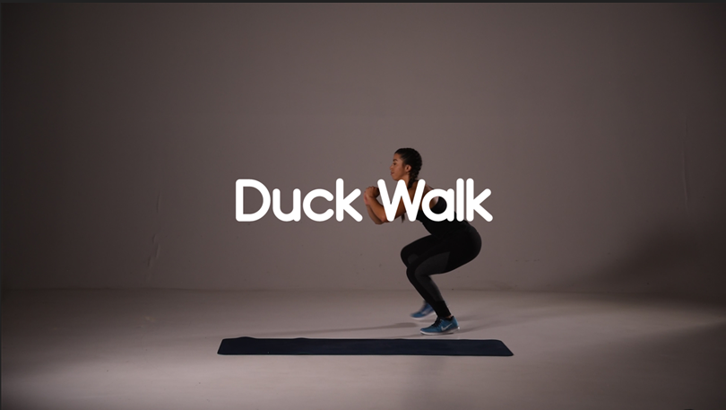 How to do duck walk hiit exercise