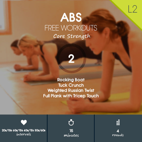 Free core burning workout