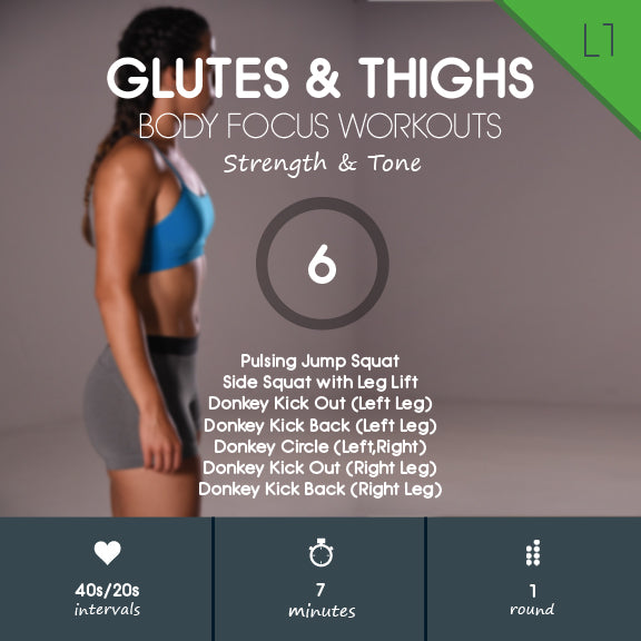 Glutes & Thighs 06 - 7 min Round Booty Workout for Beginners No Equipment