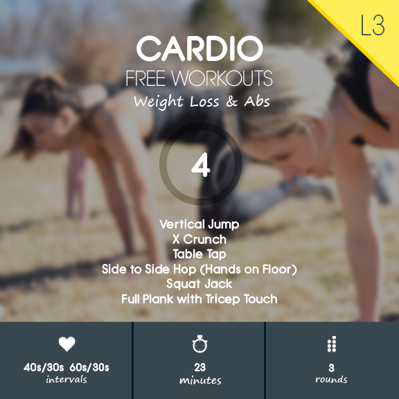 Cardio 04 - Fat Burning Cardio & Abs HIIT Workout with No Equipment