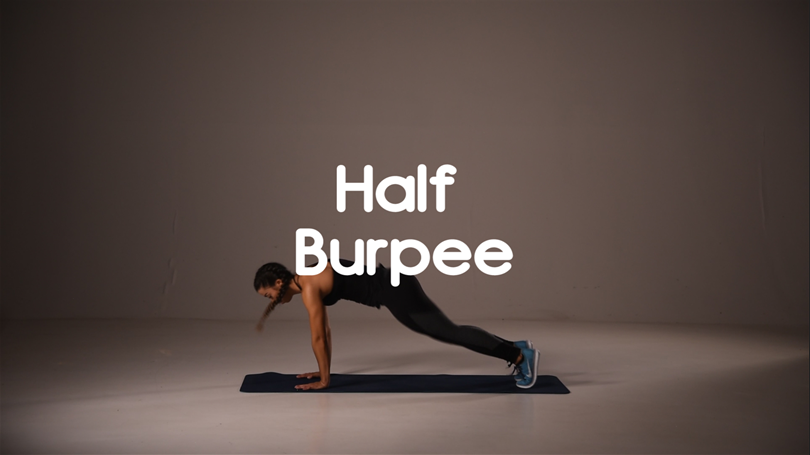 How to do half burpee hiit exercise