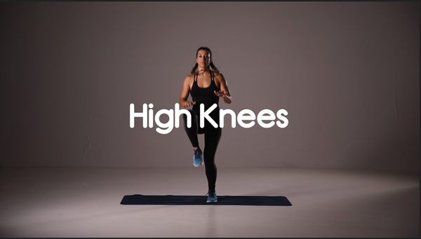How to do high knees hiit exercise