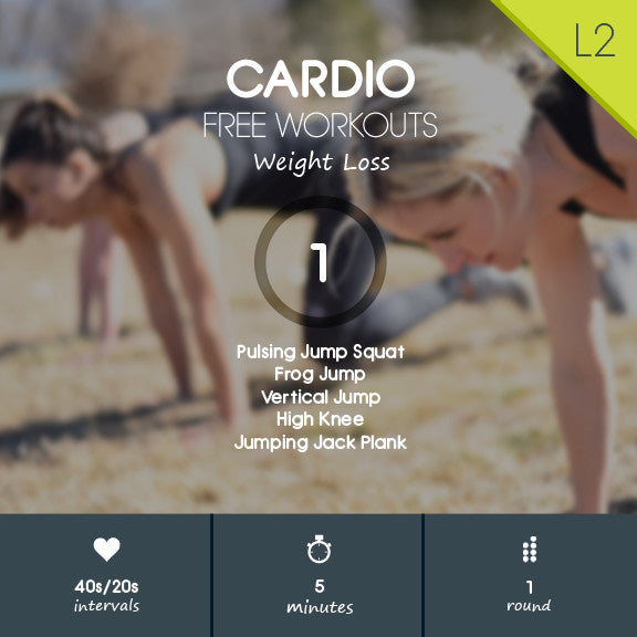 HIIT cardio weight loss video