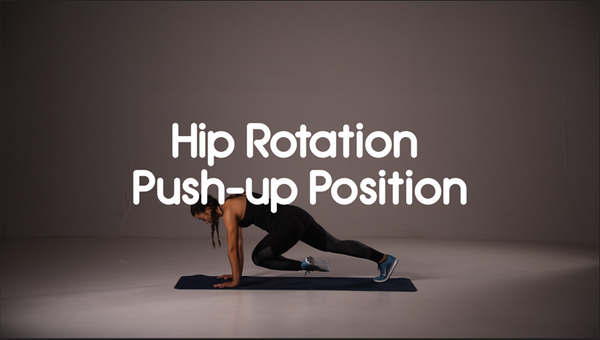 How to do hip rotations push up position hiit exercise