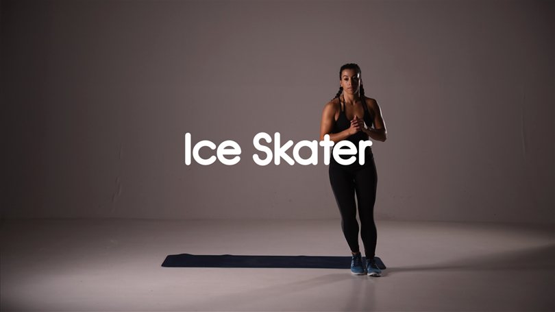 How to do ice skater hiit exercise