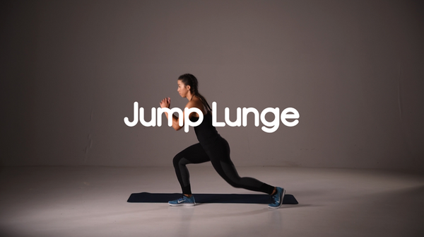 Hot to do a jump lunge hiit exercise