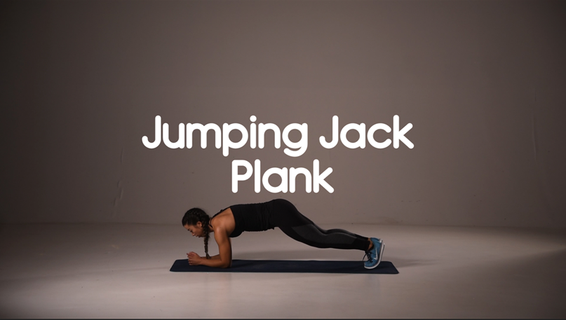 How to do jumping jack plank hiit exercise